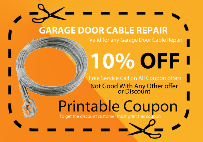 garage door broken cable repair